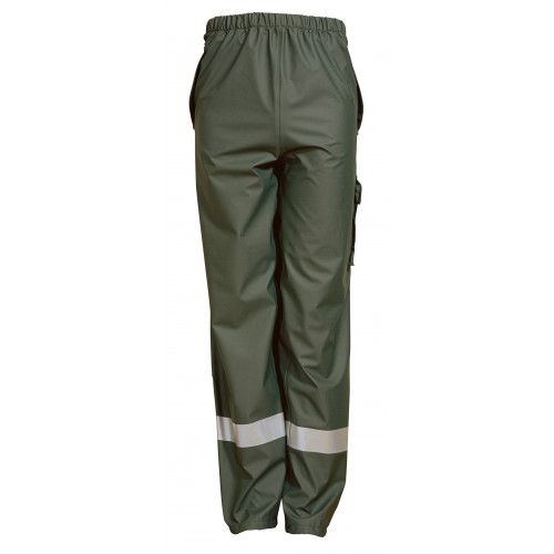 ELKA Dry Zone D-Lux Trousers PU/Polyester 190g Olive Green