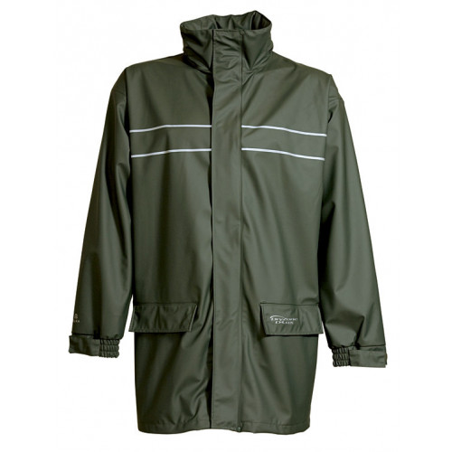 ELKA Dry Zone D-Lux Jacket PU/Polyester 190g Olive Green
