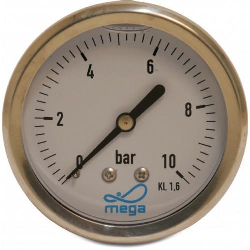 Pressure Gauge Oil (Centre Back Connection)