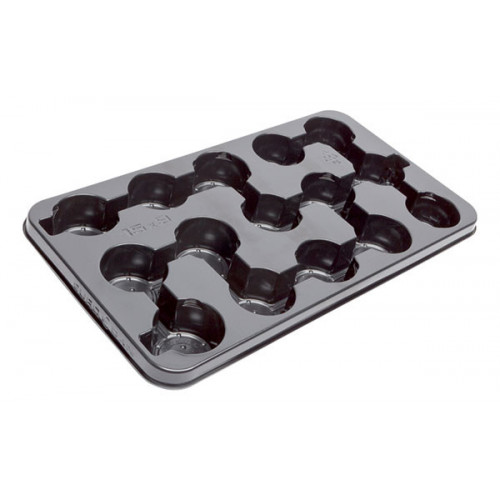 Modiform EURODAN 15x9cm Transport Tray (Black) (1400/P) - Each