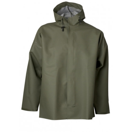 ELKA Jacket with Studs PVC/Polyester 600g Olive Green