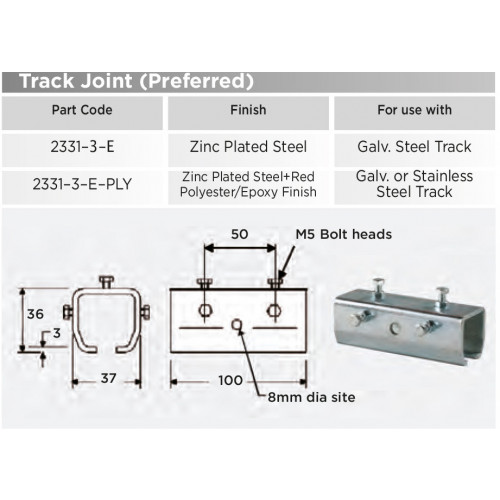 2331-3-E Joint with Adjusting Screws