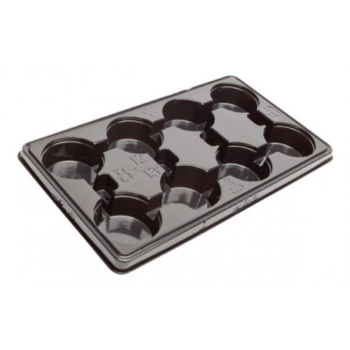 Modiform Marketing Tray 12/13cm x 8 (Base Drainage) - 1680/Pallet