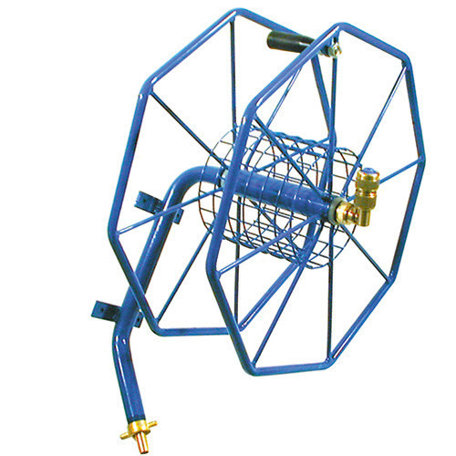 """Small Wall Mounted Hose Reel [50m x 1/2""""] Plastic Coated"""