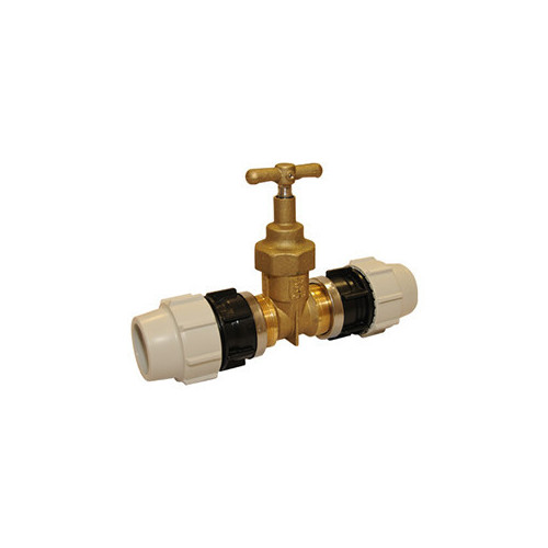 PLASSON DZR Stop Tap incl. Compression Fitting