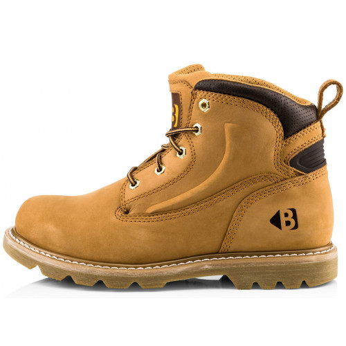 B2800HN Non-Safety Lace Boot [Honey Nubuck Leather] Sizes 6-13
