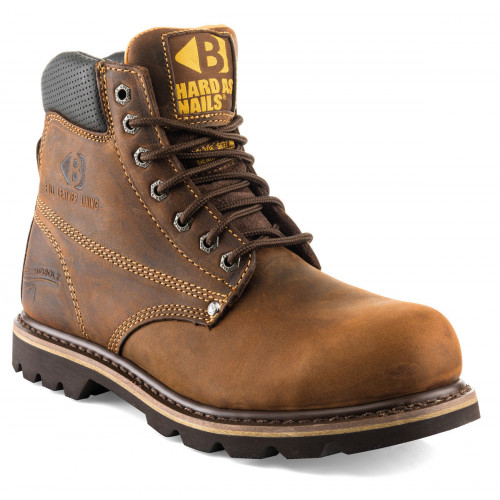 B425SM Goodyear Welted Safety Lace Boot K2 [Oak Tan] Sizes 6-13
