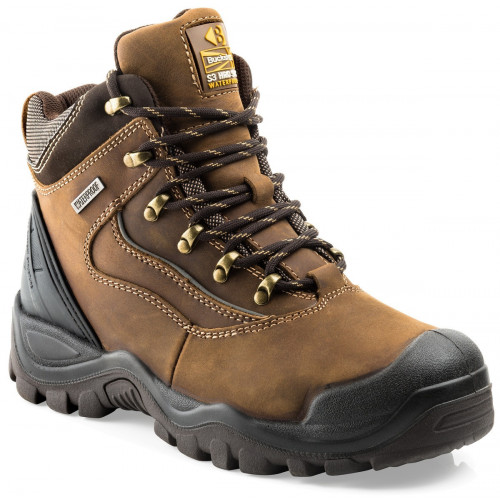 BSH002 S3 HRO WRU SRC Safety Buckshot Lace Boot [Crazy Horse] Sizes 6-13