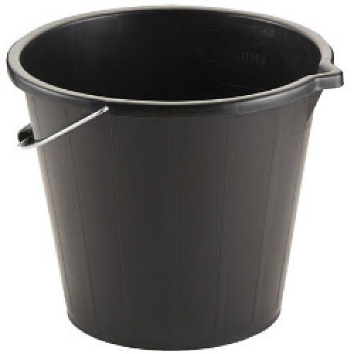 Bucket PVC Builders Black 3 Gallon