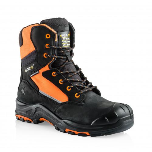 VIZ1 OR Anti-Scuff Safety Lace/Zip Boot [Safety Orange]