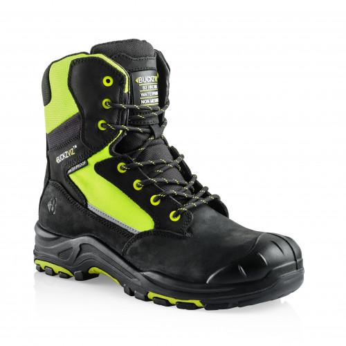 VIZ1 YL Anti-Scuff Safety Lace/Zip Boot [Safety Yellow]