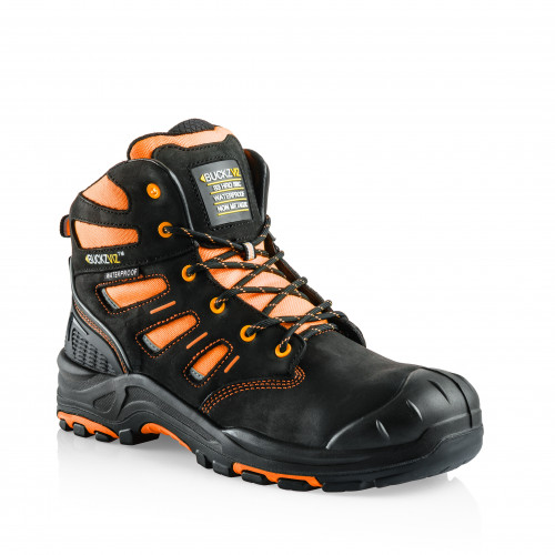 VIZ2 OR Anti-Scuff Safety Lace Boot [Safety Orange]