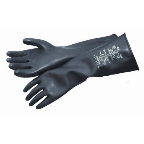 Heavyweight Rubber Gloves Black Sz 10