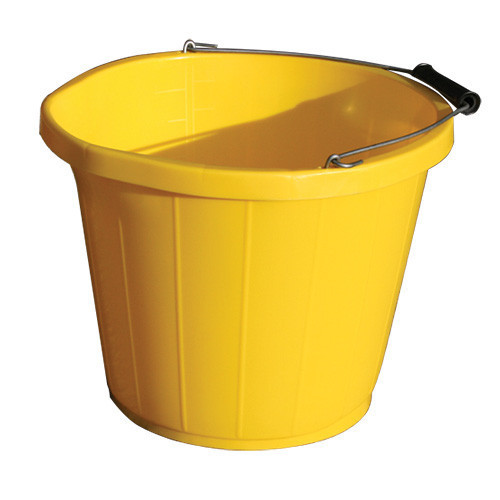 Bucket Plastic Yellow [3 Gallon] c/w Pourer