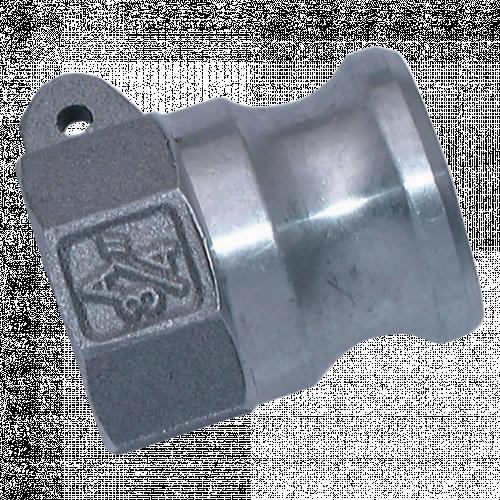 Camlock Threaded Plug Aluminium (F)