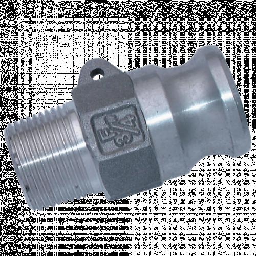Camlock Threaded Plug Aluminium (M)