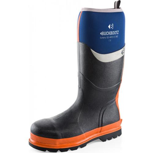 BBZ6000 S5 Neoprene WP Safety [Blue with Orange Trim] Sizes 5-13