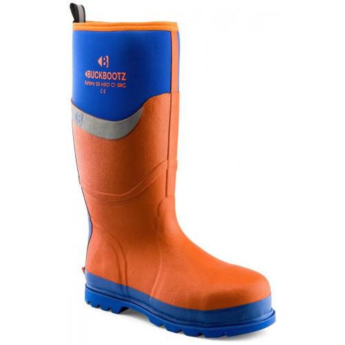 BBZ6000 S5 Neoprene WP Safety [Orange with Blue Trim] Sizes 5-13