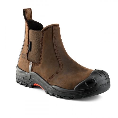 NKZ101BK Dealer Boot S3 HRO SRC [Brown Nubuck Leather] Sizes 4-13