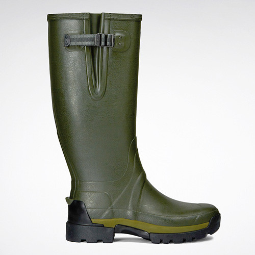 Hunter Balmoral Adjustable Neoprene Wellingtons [Dark Olive]