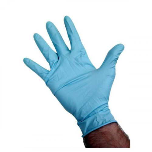 Blue Powder Free Nitrile Gloves - Box of 100