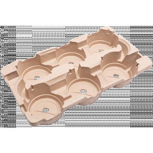 Modiform EcoExport 6 x 17 cm 8° Transport Tray - 560/Pallet