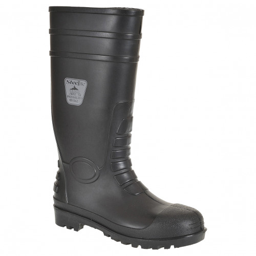 Portwest FW95 Steelite Classic Safety Wellington S4 [Black]
