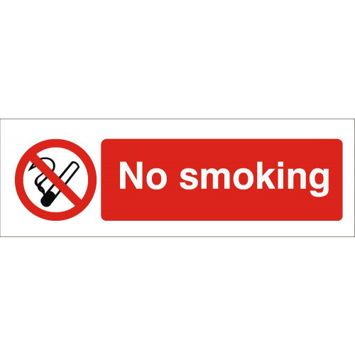 No Smoking 120 x 360 Rigid