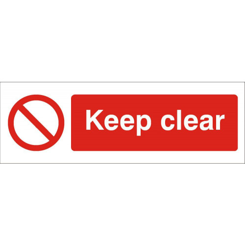 Keep Clear 120 x 360 Rigid