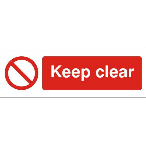 Keep Clear 120 x 360 Rigid