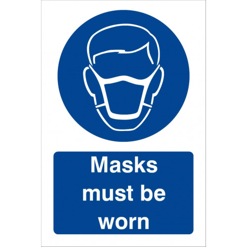 Masks Must Be Worn 240 x 360 Rigid
