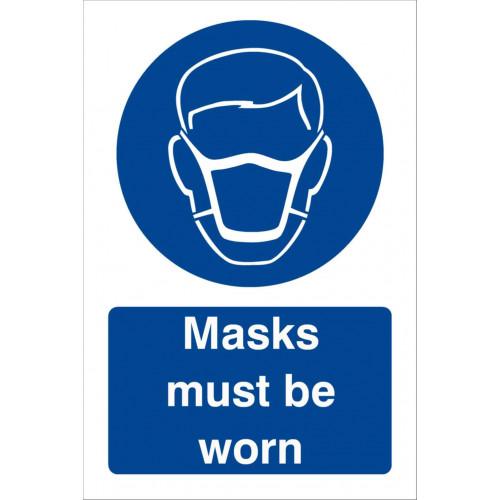 Masks Must Be Worn 240 x 360 Rigid