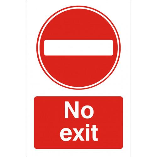 No Exit 240 x 360 Rigid