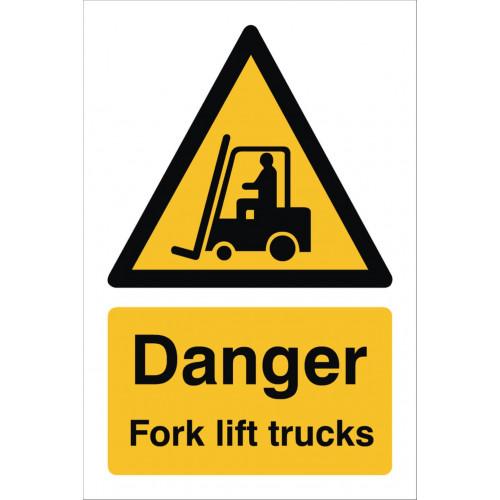 Danger Fork Lift 240 x 360 Rigid