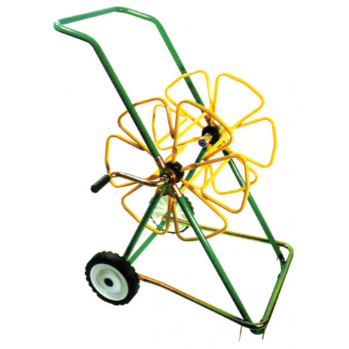"Medium Hose Trolley with Stabilisers [150m x 1/2""] GREEN/YELLOW"