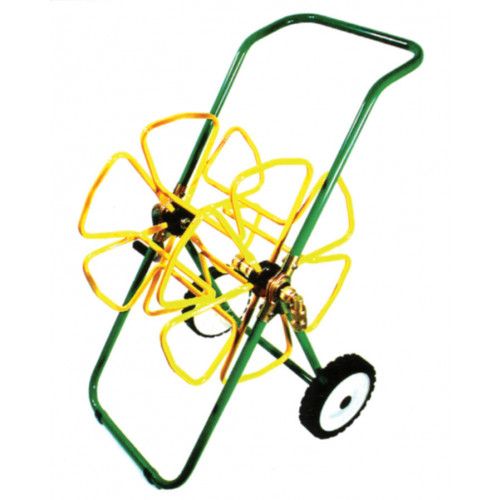 """Small Hose Trolley [100m x 1/2""""] GREEN / YELLOW"""