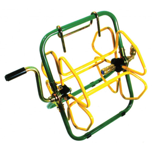 "Portable Hose Reel (50m x 1/2"") GREEN / YELLOW"