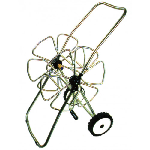 """Stainless Steel Small Hose Trolley [100m x 1/2""""]"""