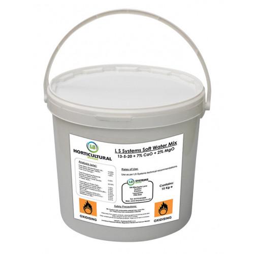 LS Systems Soft Water Soluble Fertiliser (NPK 13-05-20) (48/Pallet) [15kg] - Bucket
