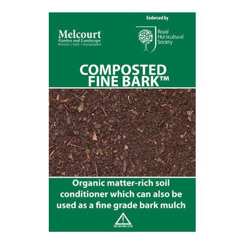 Melcourt Composted Fine Bark [50Ltr] (60/Pallet) - Each