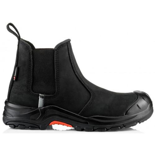 NKZ101BK Dealer Boot S3 HRO SRC [Black Nubuck Leather]