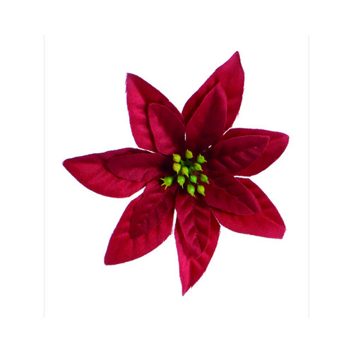 Artificial Flower Poinsettia - Red - 100/Bag