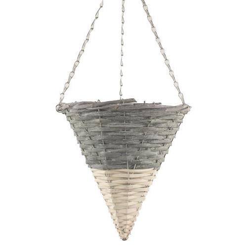 Dipped Grey/White Hanging Basket Cone 20/Box