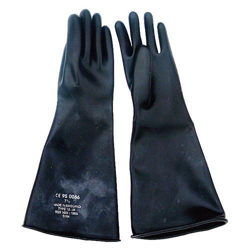 """Black Gauntlet Gloves 17"""" CE Marked"""