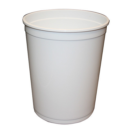 Pot Round white (1L-w/o lid)