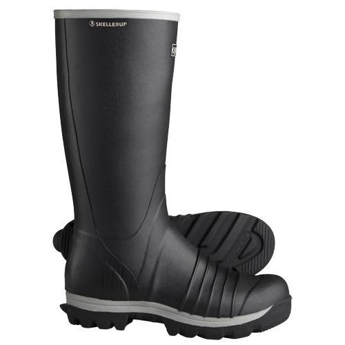 Skellerup Quatro Knee Non Safety Wellington [Black/Grey]