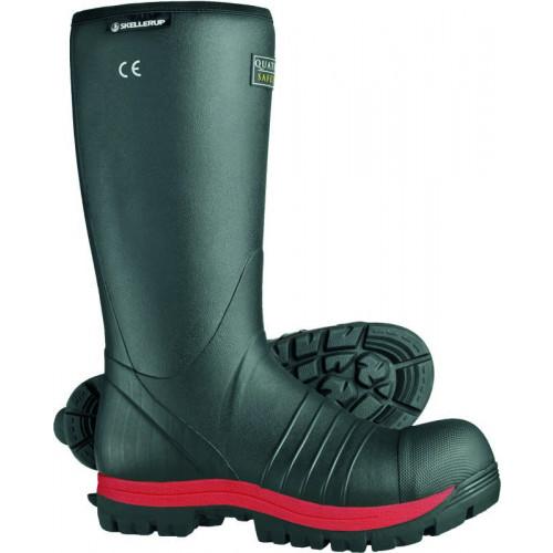 Skellerup Quatro Knee Insulated Safety Wellington S5 [Black/Red]