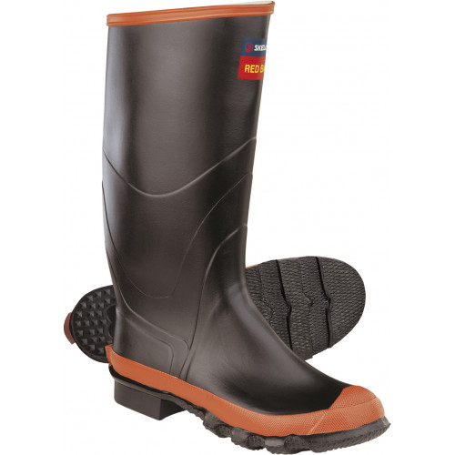 Skellerup Non Safety Red Band Knee Wellington for Agriculture [Black/Red]