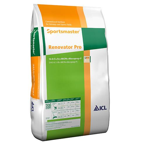 ICL Sportsmaster Renovator Pro (NPK 14-0-5+Herbicide+Fe) (Feed Weed & Mosskiller 35g/sqm) (40/Pallet) - 25kg