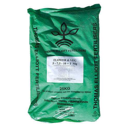 TE Flower And Veg Fertiliser (NPK 5-7.5-10+1Mg) (40/Pallet) [25kg] - Each
